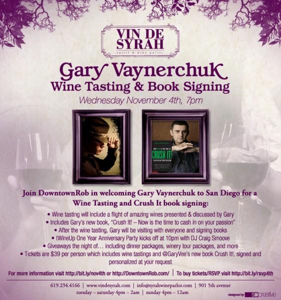 Gary Vaynerchuk Wine Tasting & Book Signing