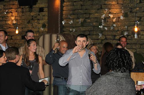 Gary Vaynerchuk doing some wine tasting