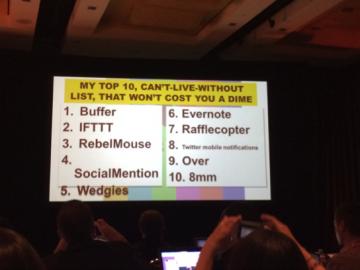 Sarah Evans Social Media Tools slide