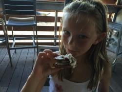 samma lamma eating ice cream